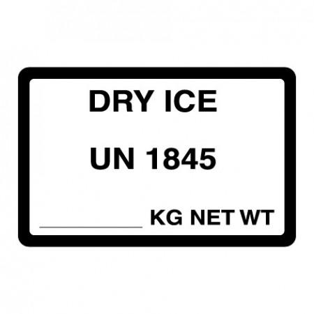 DRY ICE UN 1845 / ___ KG NET WT