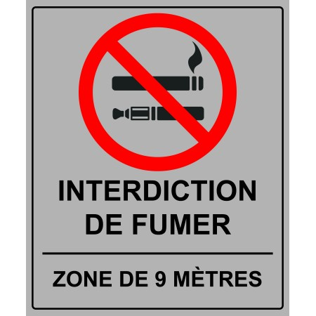 INTERDICTION DE FUMER (9 MÈTRES)